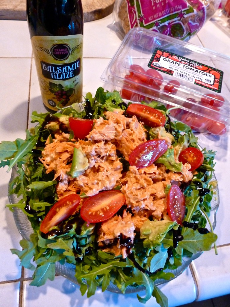 Salmon Salad, Low Carb, Balsamic,