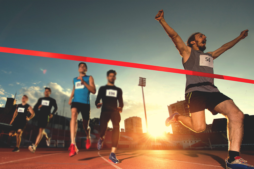 The Sprinter vs The Long Distance Runner Banner TS