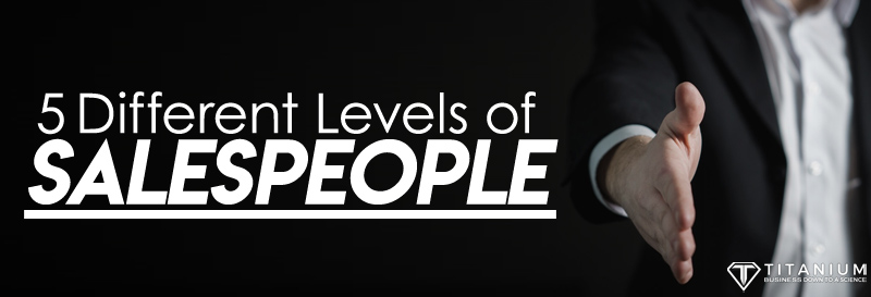 5 different levels of salespeople podcast