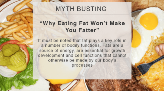 myth busting why eating fat won't make you fatter