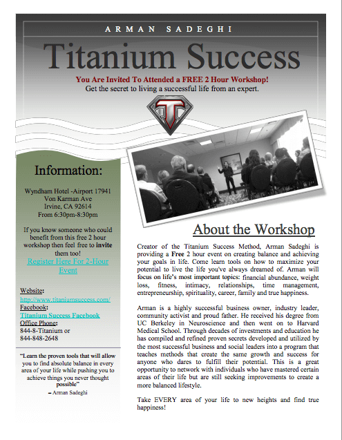 Titanium Success 2 Hour Event